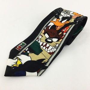 Vintage Tie Looney Tunes Mania Warner Brothers
